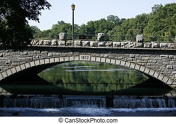 Stone Bridge - A stone bridge on the Niagara Parkway,...