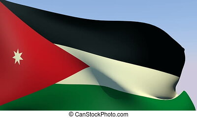 Flag of Jordan - Flags of the world collection - Jordan
