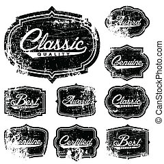 Vector Distressed Label Set. Easy to edit. All layers are...