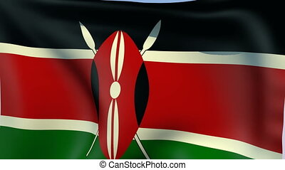 Flag of Kenya - Flags of the world collection - Kenya