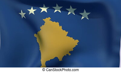 Flag of Kosovo - Flags of the world collection - Kosovo