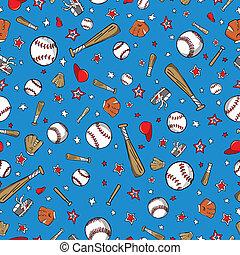 Baseball Sports Seamless Pattern