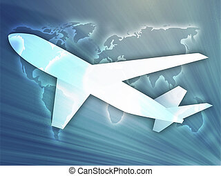 Air travel airplane - Illustration of an airplane showing...
