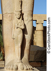 Statue Ramesses II Karnak Temple - the statue of Ramesses II...