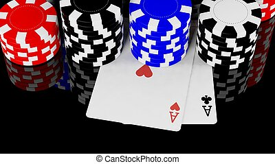 Two aces and casino chips