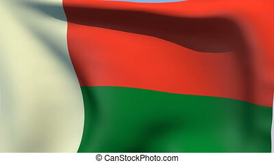 Flag of Madagascar - Flags of the world collection -...