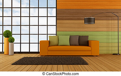 Colorful modern living room - Modern living room wih...