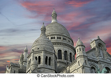 Basilica of the Sacred Heart of Paris, commonly known as...