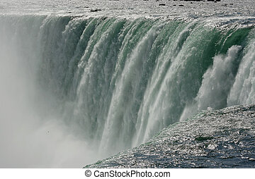 Niagara Falls, Ontario, Canada. (close up.)