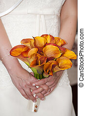 Wedding kala bouquet - Kala bouquet in bride's hand