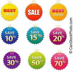 Big Sale Tags, Isolated On White Background, Vector...