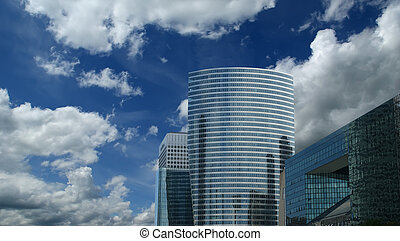 La Defense, Paris, France - La Defense, commercial and...