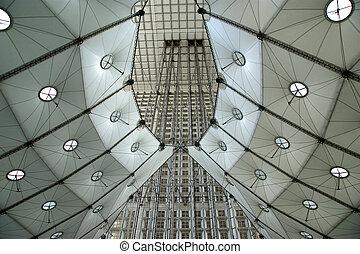 La Grande Arche. La Defense, commercial and business center...
