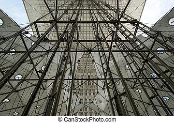 La Grande Arche Paris, France - La Grande Arche La Defense,...