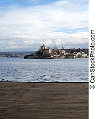 Sevastopol. The view from the Count Quay to the naval...