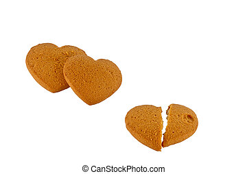 image three cakes in form hearts - a image three cakes in...