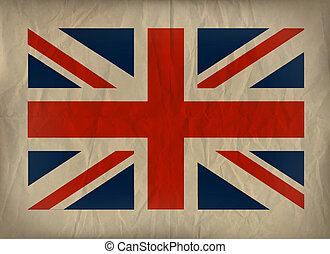 Union Jack on Brown Paper