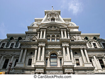 Philadelphia City Hall - The side of the Philadelphia City...
