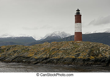 Lighthouse Les Eclaireurs on the Beagle Channel - Lighthouse...