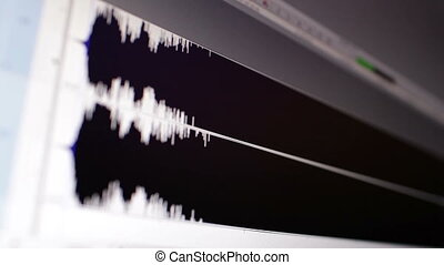 Timeline window with waveform. Focus pulling.