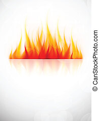 Background with fire flame. Abstract hot illustration