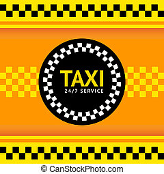 Taxi symbol, vector illustration