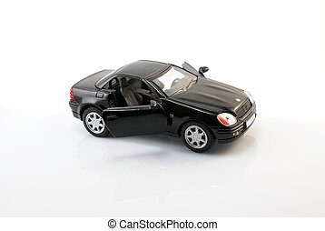 Mercedes SLK 230 - Miniature prototype car on a white...