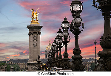 The Alexander III bridge - Paris, France