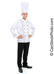 portrait of chef smiling - Portrait of confident male chef...