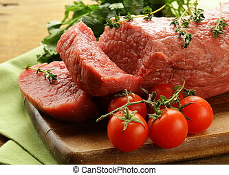 fresh raw beef meat