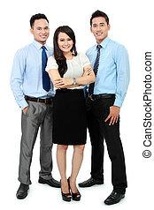 retrato, oficina, trabajadores, sonriente