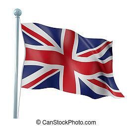 Flag of England - 3D Illustration of Detailed Flag Render...
