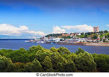 Summer view of Nizhny Novgorod