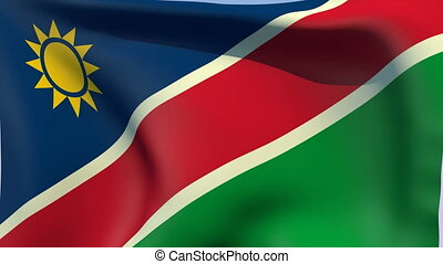 Flag of Namibia - Flags of the world collection - Namibia