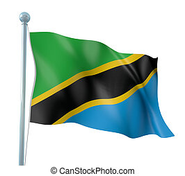 Flag of Tanzania - 3D Illustration of Detailed Flag Render...