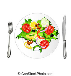 Vegetarian food Fresh vegetable salad