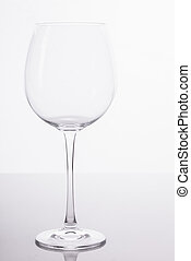 Empty glass - A big empty wine glass being photographed in...