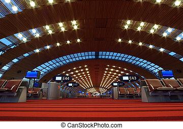 lfpg, paris-charles, cdg, De, paris-char, (aéroport, GAULLE,...