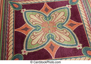 Pretty design of colorful wool rug - Pretty muted colors and...