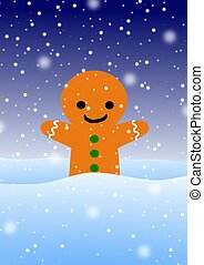 Gingerbread man - Illustration of a gingerbread man in the...