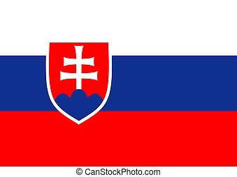 Slovakia Flag - Illustration of the flag of Slovakia