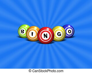 Bingo - Illustration of Bingo balls spelling out the word...
