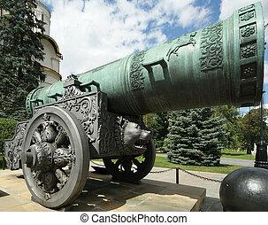 Tsar Cannon, Moscow Kremlin - The Tsar Cannon is a large,...