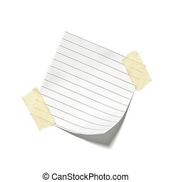 little pieces of paper on a white background in high...
