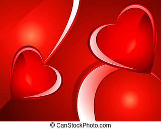abstract heart background - abstract glossy heart background...