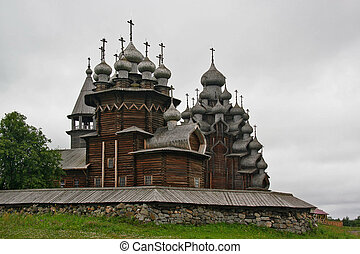 Kizhi church complex. summer. Karelia, Russia