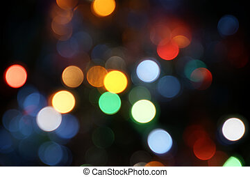 Magical Lights Blurry pattern of colorful decoration lights