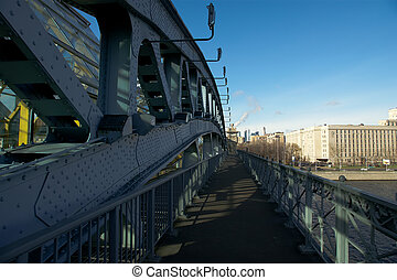 View of Moscow, Russia. Pushkinsky (Andreyevsky) Pedestrian...