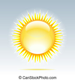 Shiny sun in the sky - Weather icon - shiny sun in the sky...