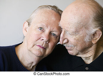 Senior Couple - Close-up of senior couple focusing on...